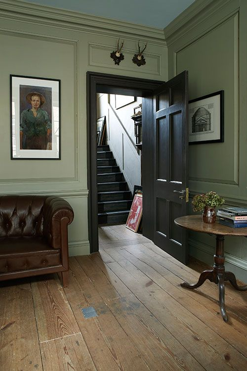 Farrow and Ball painted living room